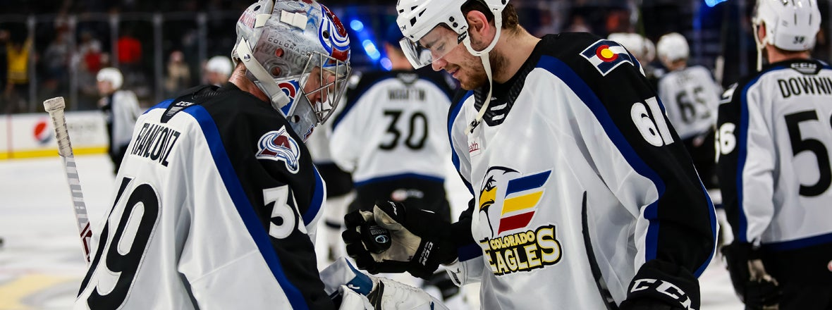 FRANCOUZ MAKES 29 SAVES TO GIVE EAGLES FIRST AHL SHUTOUT