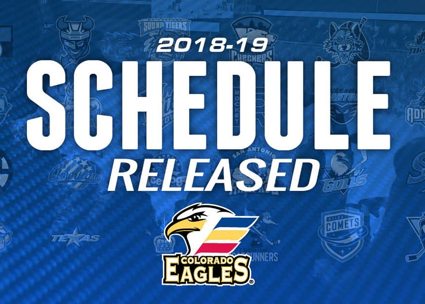 Eagles Announce 2018-19 Regular Season