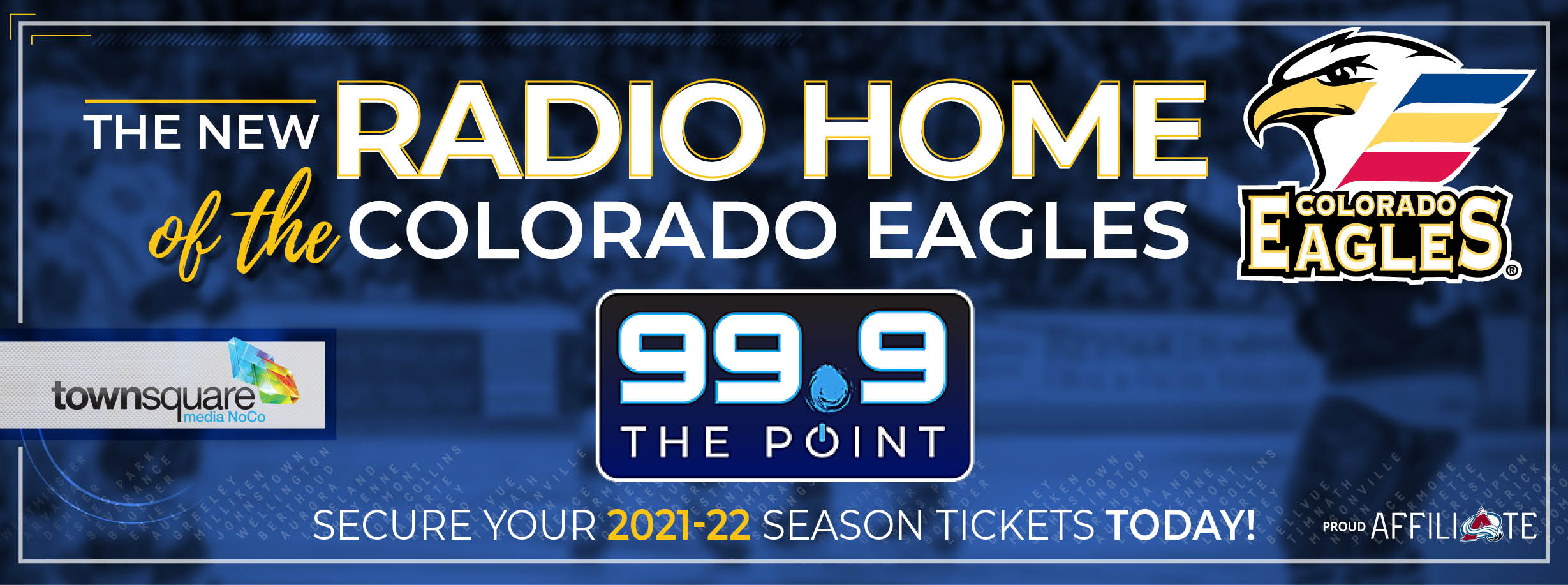 99.9 The Point New Radio Home of Colorado Eagles