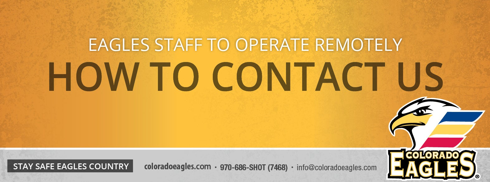 Colorado Eagles Staff to Operate Remotely