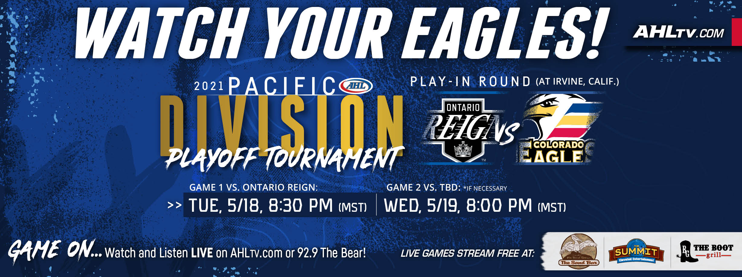 Watch the Eagles in the Pacific Division Tournament