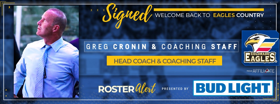 Eagles Extend Contracts of Cronin, Coaching Staff