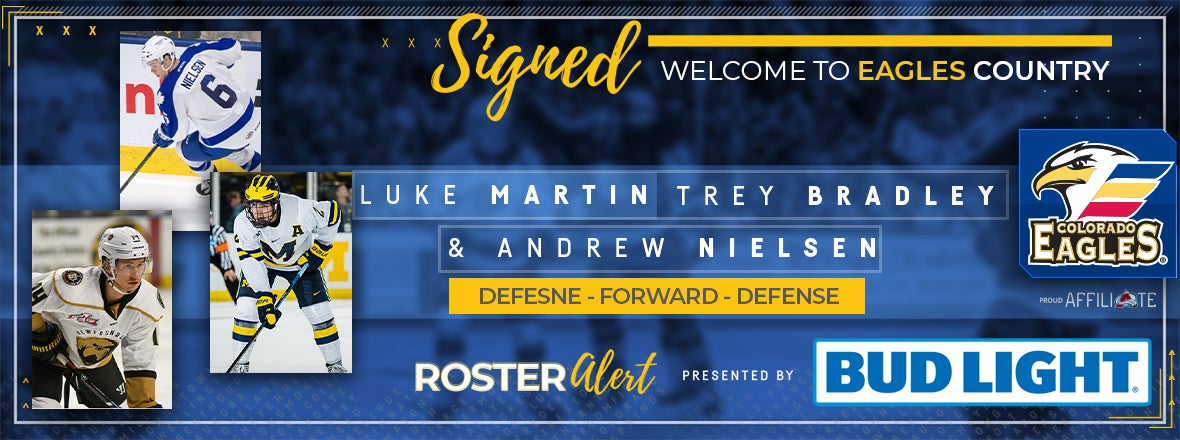 Eagles Sign Trio to AHL Two-Way Contracts